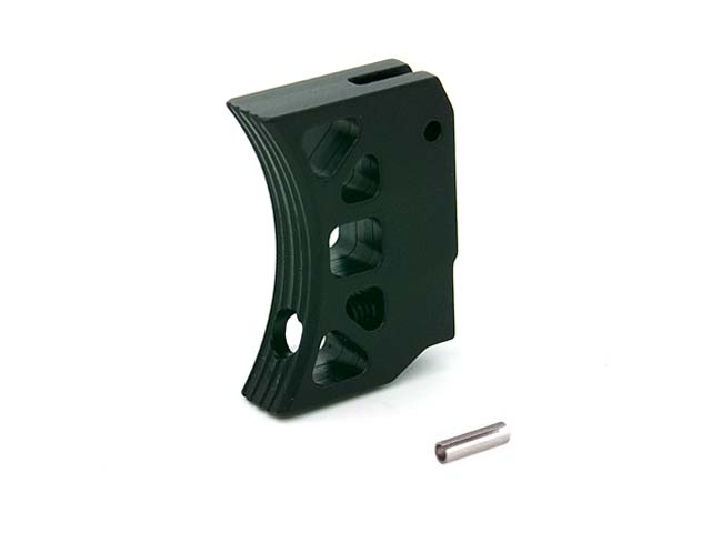 AIP Aluminum Trigger (Type J) for Marui Hi-capa (Black/Long)